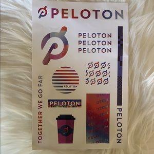 Peloton Other - Peloton 18oz glass water bottle & sticker set